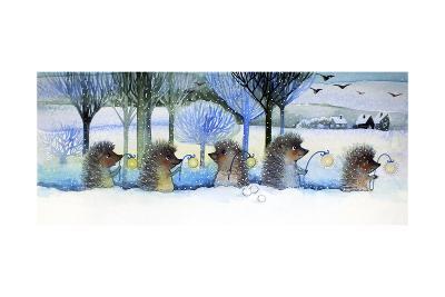 Winter Hedgehogs-Oxana Zaika-Giclee Print
