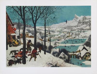 Winter, Hunters in the Snow-Pieter Bruegel the Elder-Collectable Print