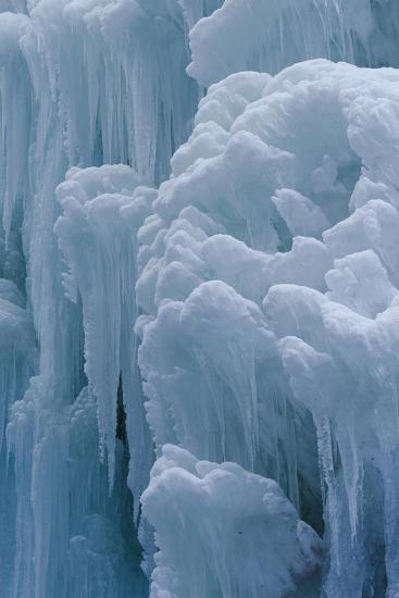 Winter Ice, Partnachklamm (Partnach Creek Gorge), Bavaria, Germany-Martin Zwick-Photographic Print