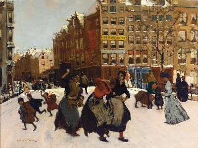 Winter in Amsterdam, C.1898-Georg-Hendrik Breitner-Giclee Print