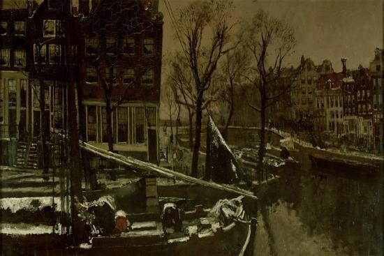Winter in Amsterdam-George Hendrik Breitner-Art Print