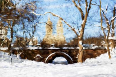 Winter in Central Park VII - In the Style of Oil Painting-Philippe Hugonnard-Giclee Print