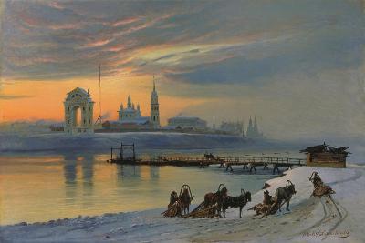 Winter in Irkutsk at the Angara, 1886-Nikolay Fjodorow Dobrovolsky-Giclee Print