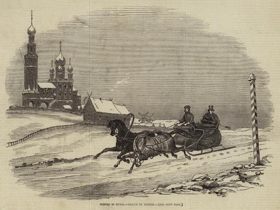 Winter in Russia--Giclee Print