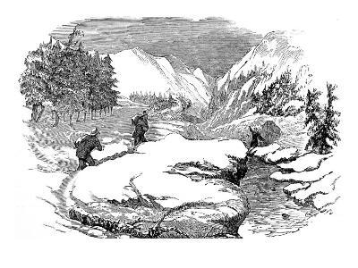Winter in the Californian Mountains, 1853--Giclee Print