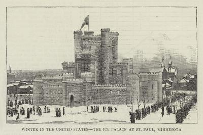 Winter in the United States, the Ice Palace at St Paul, Minnesota--Giclee Print