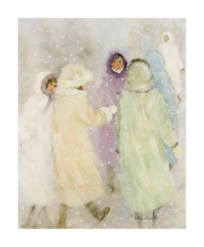 Winter Ladies-H?l?ne L?veill?e-Art Print