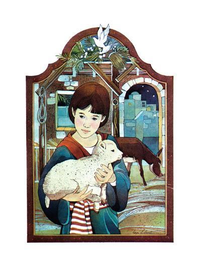 Winter Lamb - Child Life-Len Ebert-Giclee Print