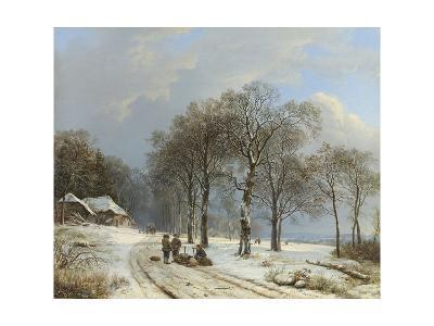 Winter Landscape, 1835-38-Barend Cornelis Koekkoek-Giclee Print