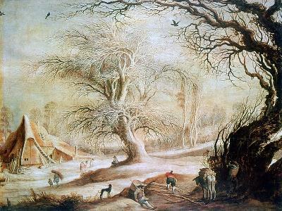 Winter Landscape, C1606-1656-Gysbrecht Leytens-Giclee Print