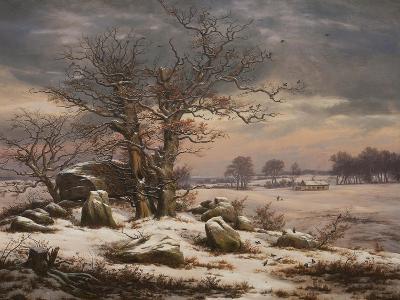 Winter Landscape. Near Vordingborg, 1827-Johan Christian Dahl-Giclee Print