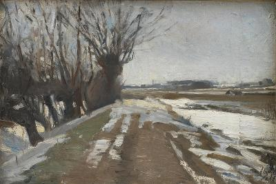Winter Landscape. Utterslev near Copenhagen, 1887-Albert Gottschalk-Giclee Print