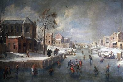 Winter Landscape with Church-Jan Wildens-Giclee Print