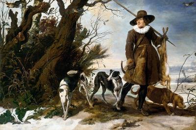 Winter Landscape with Hunter, 1624-Jan Wildens-Giclee Print