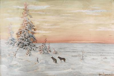 Winter Landscape with Wolves, 1915-Count Vladimir Leonidovich Muravyov-Giclee Print