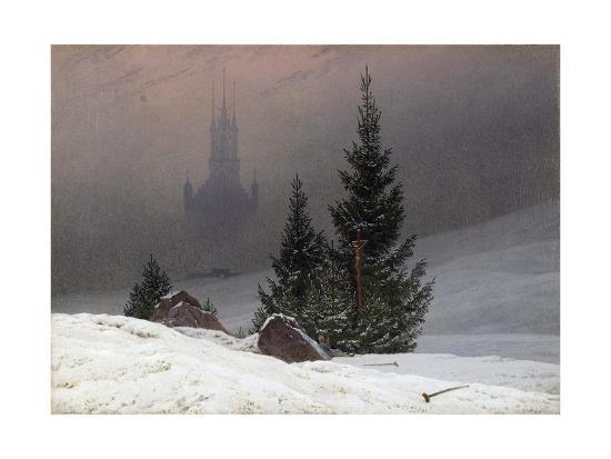 Winter Landscape-Caspar David Friedrich-Giclee Print
