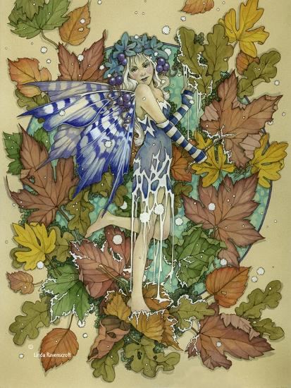 Winter Leaf Fairy-Linda Ravenscroft-Giclee Print