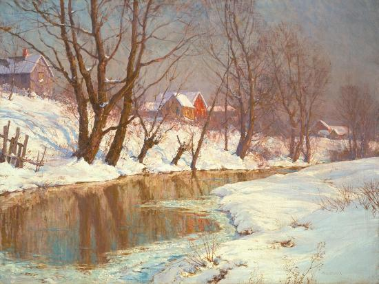 Winter Morning at a Stream-Walter Launt Palmer-Giclee Print