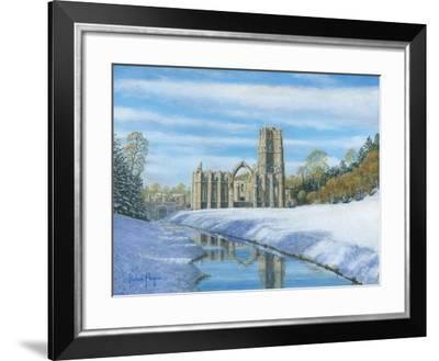 Winter Morning - Fountains Abbey Yorkshire-Richard Harpum-Framed Art Print