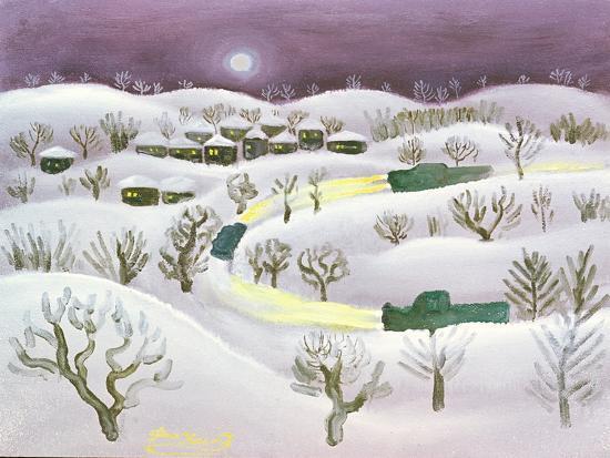 Winter Night, 1971-Radi Nedelchev-Giclee Print
