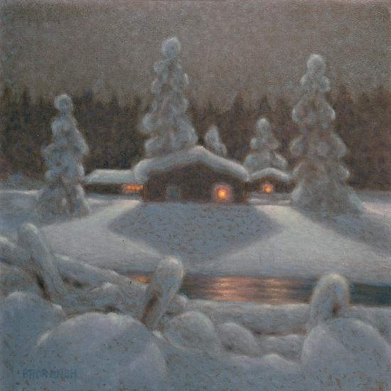 Winter Night-Bror Lindh-Giclee Print
