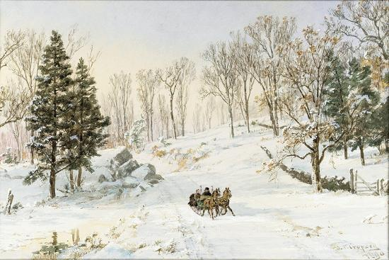 Winter on Ravensdale Road, Hastings-On-Hudson, 1890-Jasper Francis Cropsey-Giclee Print