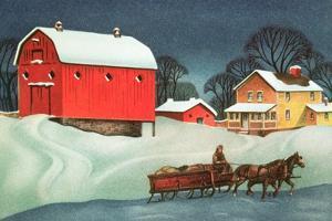 Winter on the Farm, Christmas Card