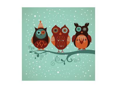 Winter Owls-lenlis-Art Print