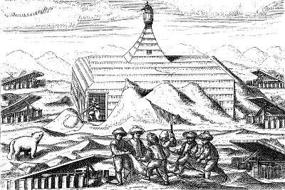 Winter Quarters of Willem Barents' Expedition to the Arctic, 1596-1597--Giclee Print