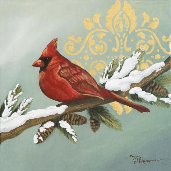 Winter Red Bird II-Tiffany Hakimipour-Art Print
