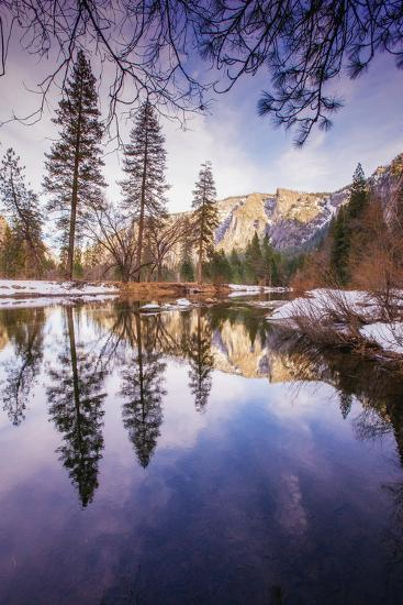 Winter Reflections in Yosemite Valley--Photographic Print
