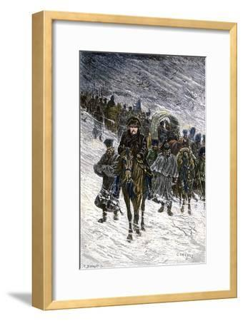 Winter Retreat of Napoleon and the French Army from Moscow in 1812