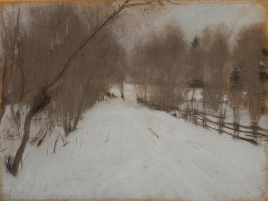 Winter Road to Domotkanovo, 1904-Valentin Alexandrovich Serov-Giclee Print