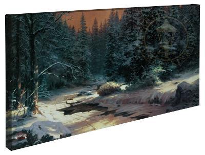 Winter's End-Thomas Kinkade-Gallery Wrapped Canvas