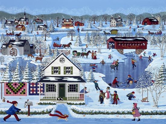Winter Sampler-Sheila Lee-Giclee Print