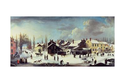 Winter Scene in Brooklyn, C.1817-Louisa Ann Coleman-Giclee Print