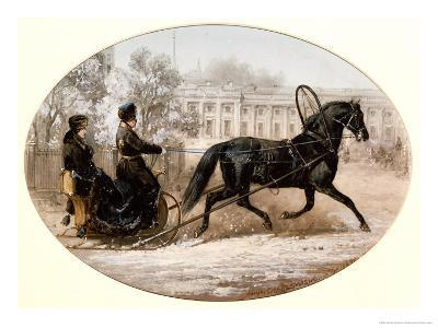 Winter Scene in St. Petersburg-Adolphe Jossifovich Charlemagne-Giclee Print