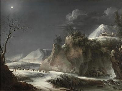 Winter Scene in the Italian Alps, C.1735-1765-Francesco Foschi-Giclee Print