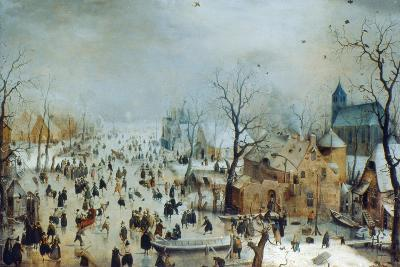 Winter Scene with Ice Skaters, C1608-Hendrick Avercamp-Giclee Print