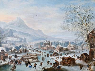 Winter Scene with Skaters-Jan Griffier-Giclee Print