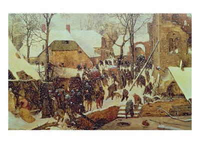 Winter Scene-Pieter Bruegel the Elder-Giclee Print
