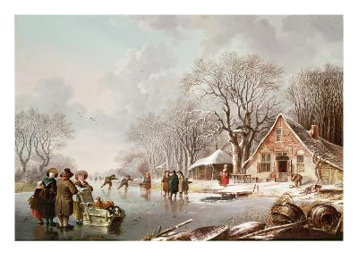 Winter Scene-Andries Vermeulen-Giclee Print