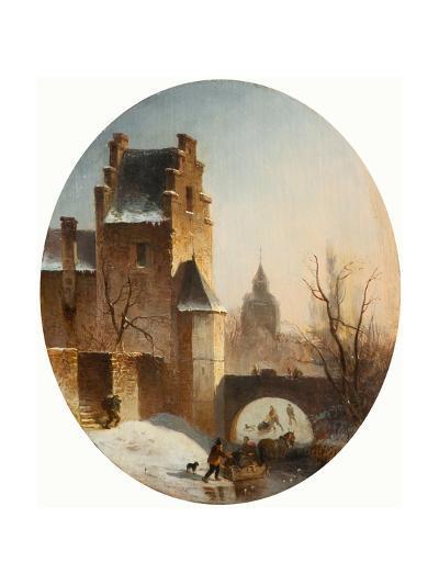 Winter Scene--Giclee Print