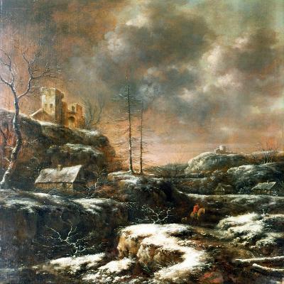 Winter Scene-Claes Molenaer-Giclee Print