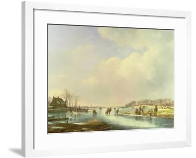 Winter Scene-Andreas Schelfhout-Framed Giclee Print