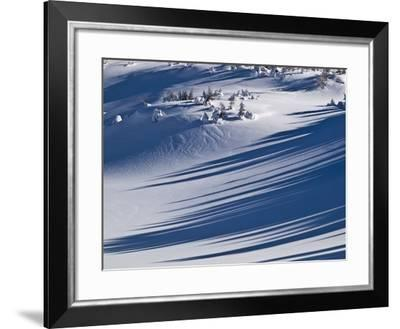 Winter Scenery in the Alps-Armin Mathis-Framed Photographic Print