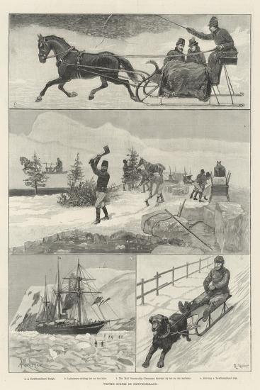 Winter Scenes in Newfoundland-Amedee Forestier-Giclee Print