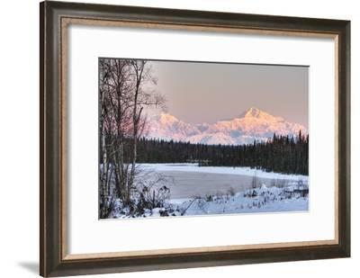 Winter Scenic of the Southside of Mt. Mckinley as Seen from South of the Denali National Park-Design Pics Inc-Framed Photographic Print