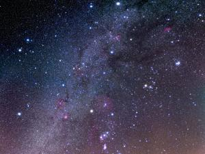 Winter Sky Panorama with Various Deep Sky Objects
