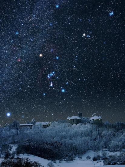 Winter Sky with Orion Constellation-Eckhard Slawik-Photographic Print